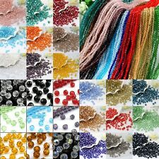 120/600 Pcs 4mm swarovski crystal Glass Bicone Beads 40 colors Crafts 4/6mm