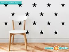 Stars Fabric Wall Decals - Set of 30 Stars - 19 Color Options