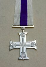 Military Cross Full Size Medal, Mounting Option, Elizabeth II, MC Army, Ribbon