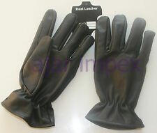 Horse Riding Real Leather Gloves  100% Cowhide Genuine Leather Mens
