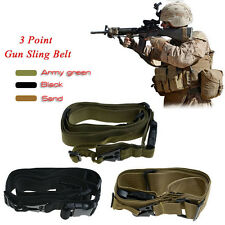 New Actical 3 Three Point Rifle Gun Sling Strap System Airsoft Gun Sling H6TG