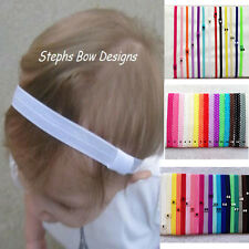 20pcs Toddler baby kids girl lace skinny Elastic headbands hair accessory 3Style