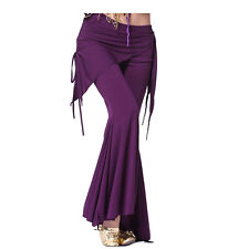 Belly Dance Culottes Bell Pants Dancing Tribal Crystal Cotton Harem Costume