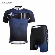 Mens Bicycle Cycling Jersey Short Sleeve Tops + (Bib) Shorts Suit Quick-Dry