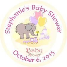 Personalised 37mm Baby Shower Stickers Labels Party Thank You Seals - L925