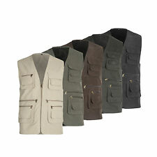 NEW MULTI POCKET COTTON GILET VEST  LIGHTWEIGHT FISHING BODYWARMER M-XXXL