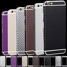 Carbon Fibre Body Skin cover case Protector Wrap Sticker Decal For iPhone
