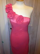 BNWT AX Paris Rose One Shoulder Fitted Pink Dress 10 or 12
