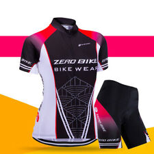 Womens Cycling Short Sleeves Jersey Bike Bicycle Sets Shirts Padded Shorts Suits