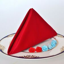 1 Piece Red&White Cloth 18 in.Dinner Cotton Napkins-Restaurant Wedding Party