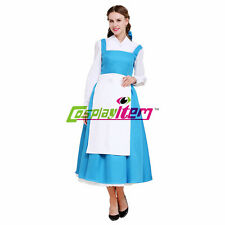 Adult Beauty and the Beast Belle Dress Maid Dress Lolita Dress Cosplay Costume