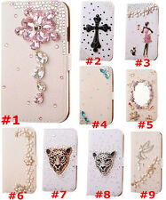Bling Crystal Diamonds PU leather flip slots stand wallet case cover Skin F1