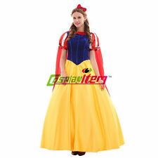 Adult Snow White Princess Dress Costume Halloween Party Cosplay Costume Version1