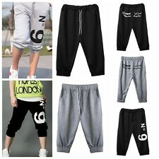 Men Boy Cropped Harem Casual Trousers Sweat Pants Sports Shorts Running Dancer