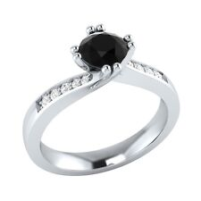 0.55 ct Natural Spinel & Certified Diamond Solid Gold Wedding Engagement Ring