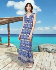 PER UNA Beautiful Blue Ivory Aztec Print Maxi Dress | SALE | Was £55