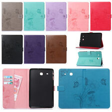 Flip Butterfly Floral PU Leather Wallet Stand Case Cover For iPad/Samsung Tablet