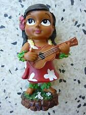 Dashboard Doll Hula Girl Tiki 50s Rockabilly Hawaii Kustom Kulture Red Dress