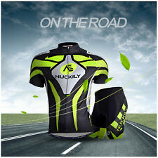 Casual Men Team Cycling Jersey Shirt Shorts Kits Bicycle Tops Short Sleeves Suit