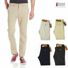 Men's High Quality Classic Chino Khaki Straight Fit Flat Front Casual Pants