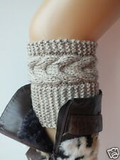 Hand Knit Boot Cuffs, Boot Toppers, Leg Warmers, Boot Socks 7 Colors Avelable