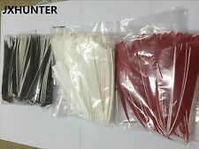 100PK left wing shield 5 inch turkey feather for arrow fletches hunting archery