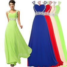 Sequined Long Prom Bridesmaid Dress Cocktail Party Evening Pageant Ball Gown