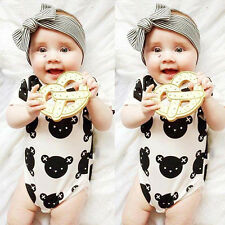 Baby Girl Boy Clothes Bodysuit Romper Jumpsuit Playsuit Outfits For 0-24 months