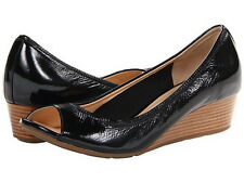 Brand New Cole Haan Air Tali OT Wedge 40 Black Patent Shoes