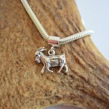 Goat Sterling Silver European-Style Charm and Bracelet- Free Shipping