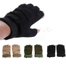Outdoor Half Finger Gloves Military Tactical Airsoft Hunting Riding Cycling New