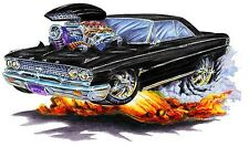 1962-63 Ford Galaxie Muscle Car-toon Art Tshirt NEW