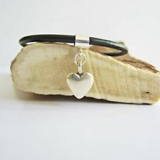 Medium Heart Sterling Silver European-Style Charm and Bracelet- Free Shipping