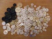 Vintage job lot 270 buttons mostly white & cream some sets