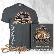 STURGIS MOTORCYCLE RALLY AND RACES OFFICIAL LOGO CHARCOAL GRAY T-SHIRT - 75TH