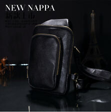 Men's PU Leather Casual Crossbody Chest Bag Shoulder Messenger Bag Sling Fanny