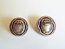 6 METAL ANTIQUE SILVER COL MILITARY COAT OF ARMS  BLAZER COAT BUTTONS 20 / 23mm