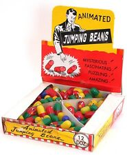 Vintage Original Box of 144 MAGICAL TOY JUMPING BEANS in Store Display Box NOS