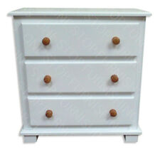 OLD MILL FURNITURE ARIZONA 3 DRAWER CHEST IN WHITE PINE TRIM READY ASSEMBLED