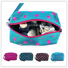 Polka Dots Zipper Travel Cosmetic Make-up Organizer Storage Hand Bag Case Pouch