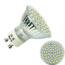 GU10 60 LED Lamp Bulb High 5W Power Spot Light White 6500K 2016 3528 SMD 220V