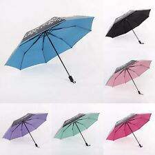 New Come Women's Floral Parasol UV-proof Black Dome Rain Umbrella Wedding Favor