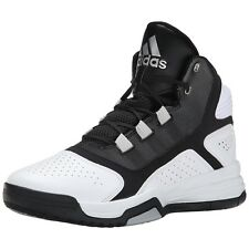 Mens Adidas Amplify Basketball Sneakers White Black Trainers