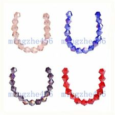 Loose 200pcs Faceted Crystal Glass 5301# Bicone Spacer Beads 4mm Charms
