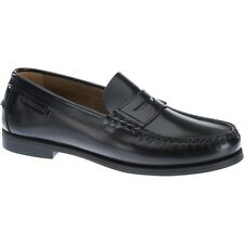 NEW Womens SEBAGO Black Leather PLAZA II Penny Loafers Shoes B616100