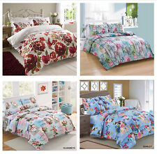 3PC Duvet Cover with Pillow Case Quilt Cover Bed Bedding Set All Sizes