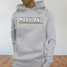 State Tourist Tour Travel City Maryland Vacation Proud Womens Gray Hoodie