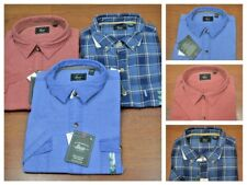 G.H.Bass & Co Mens Plaid Blue Button Down Short Sleeve Casual Shirt Size XL, XXL