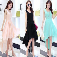 Lady Women Ball Gown Swallow Tail Formal Cocktail Party Irregular Long Dress New