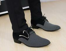 New Mens Pointed Toe Dress Shoes Lace Up British Formal Business Oxfords Loafers